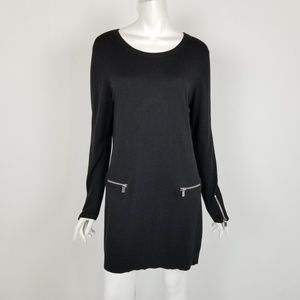 Michael Kors Black Mini Sweater Dress Size Medium
